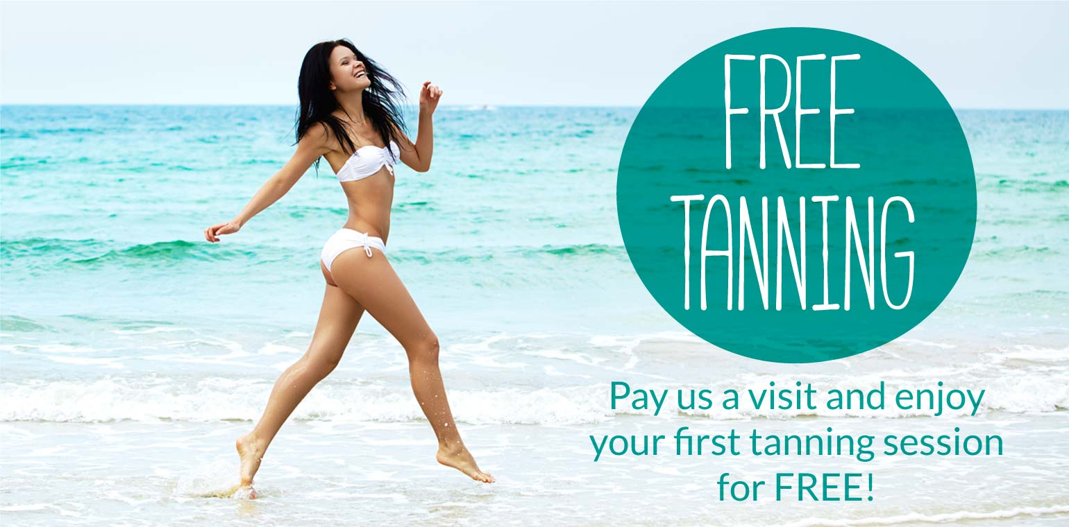 free taning promo, first taning session for free